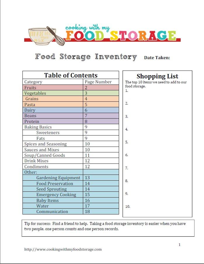 Long Term Survival Food List