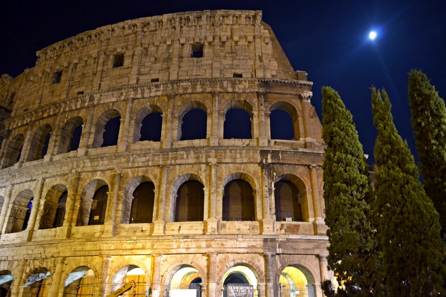 Colloseum at night