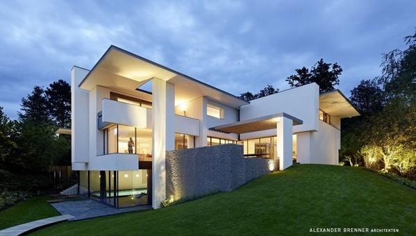 Residencia contemporánea alemana en Stuttgart