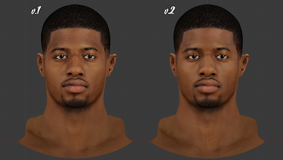 NBA 2K14 Paul George Cyberface Patch