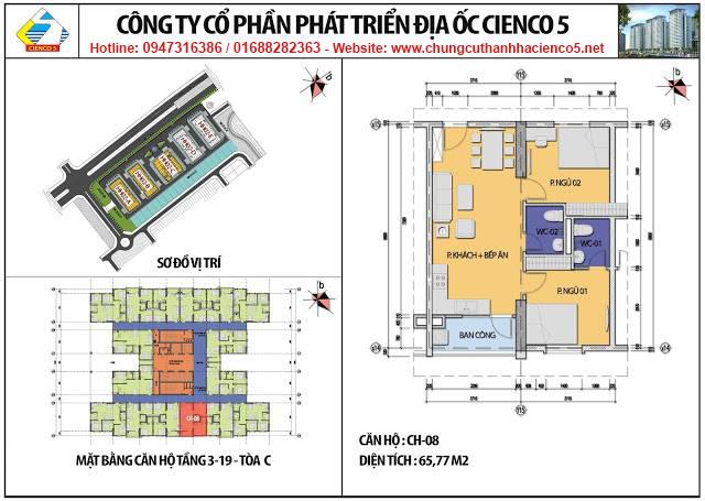 Sơ đồ thiết kế căn 08 chung cư B2.1 HH02C Thanh Hà Cienco 5