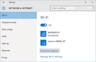 Cara Setting Sharing Network Connection Windoes 10 WIFI Hotspot