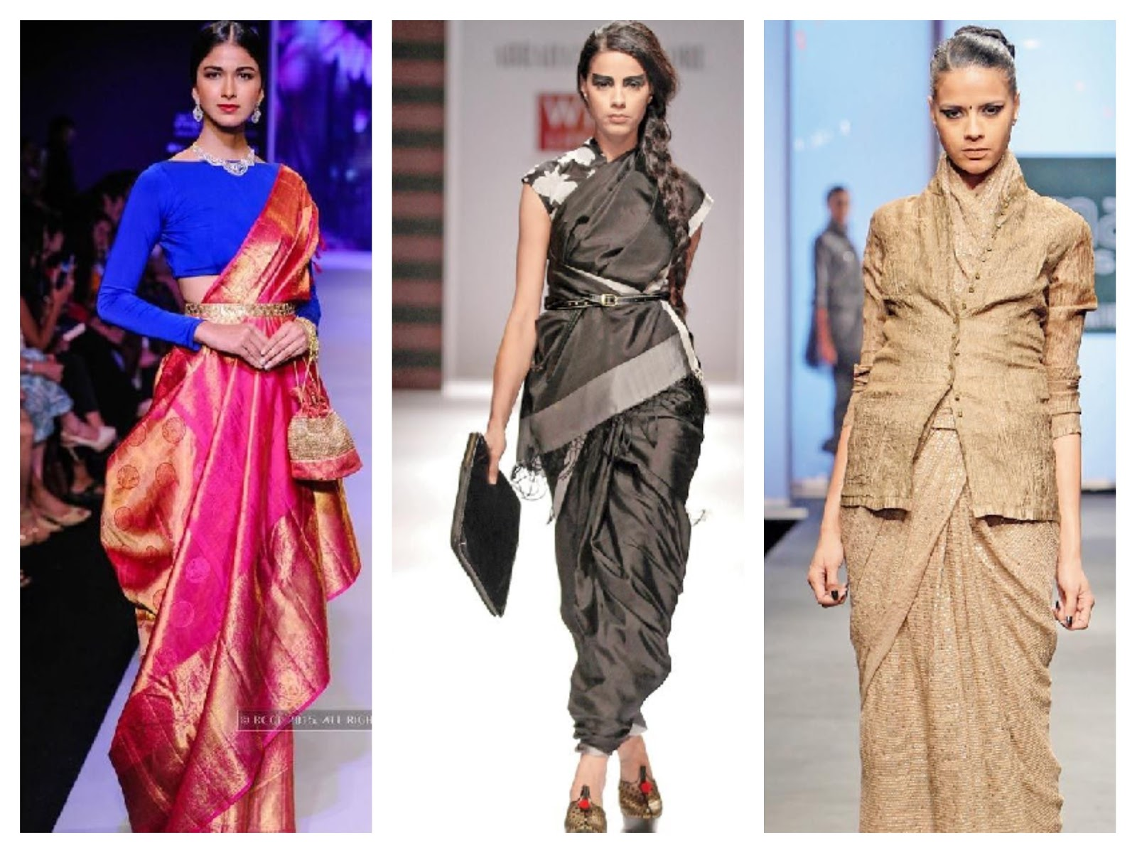 how to wear different saree styles
