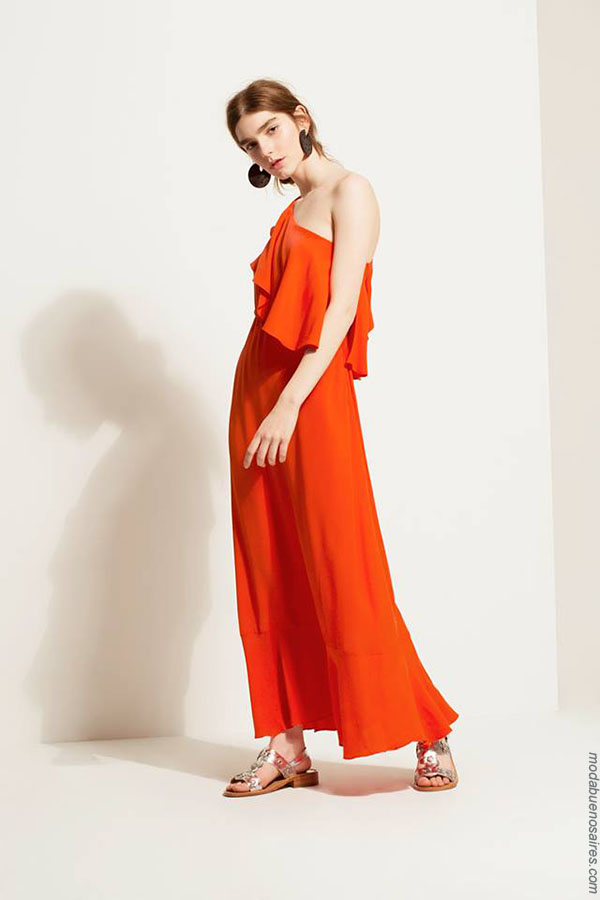 Vestidos con volados primavera verano 2018 casual elegante. Moda primavera verano 2018. Moda 2018.