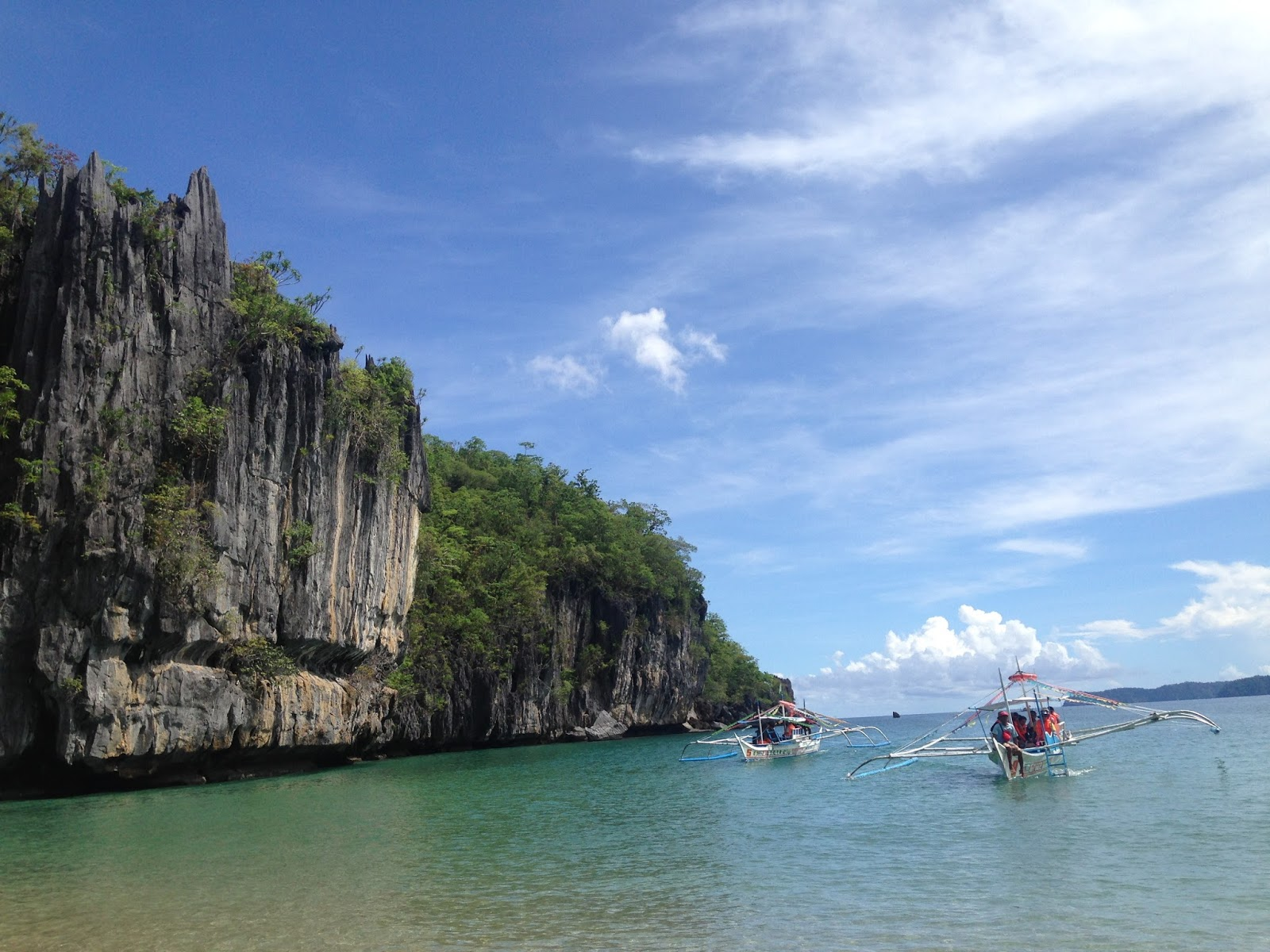 View from the Underground River entrance, Palawan