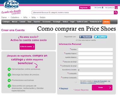 como comprar en price shoes