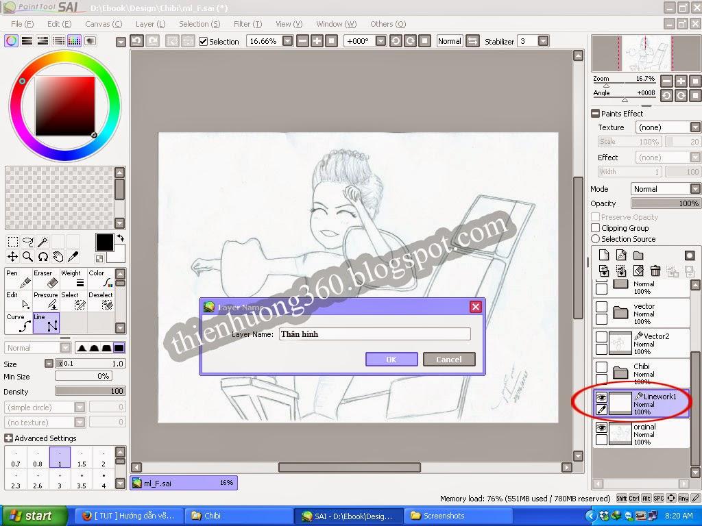 Hướng dẫn vẽ Chibi với Paint tool SAI