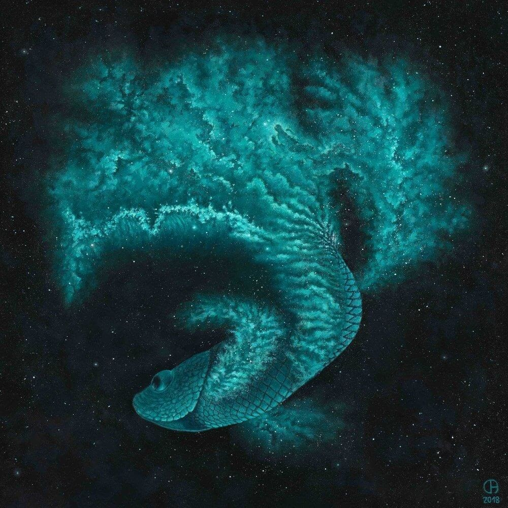 11-Betta-Fish-David-Ambarzumjan-Cosmic-Space-Fantasy-Animal-Drawings-and-Paintings-www-designstack-co