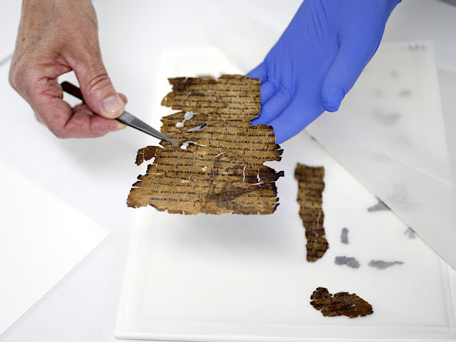 Hidden script uncovered in fragments of the Dead Sea Scrolls