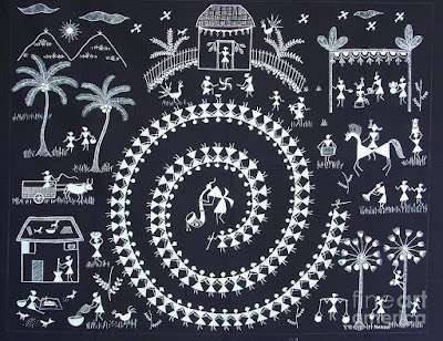 Warli a quintessential tribal folk art of maharashtra altavistaventures Image collections