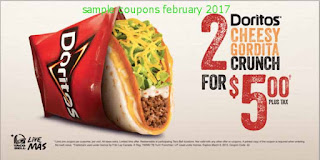 free Taco Bell coupons for february 2017