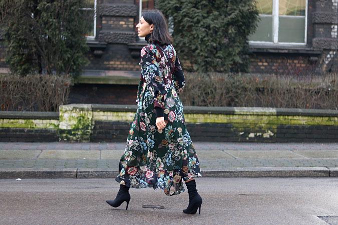 sukienka w kwiaty Zara 2018