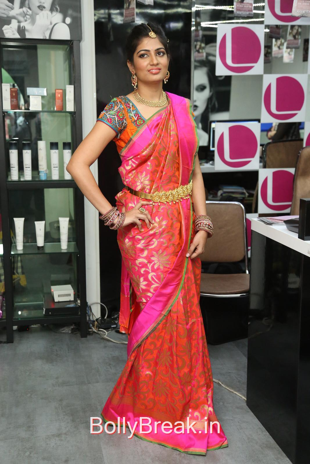 Telugu Actress Akanksha, Akanksha Hot Pics from Bridal Dream Make up At Lakme Salon