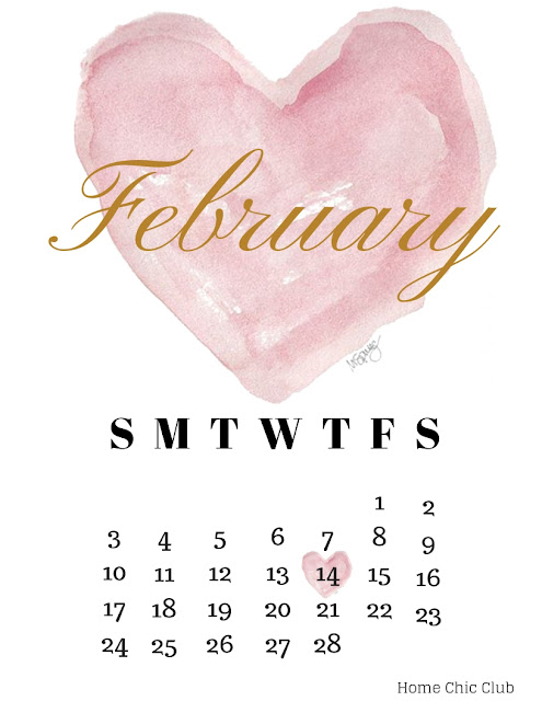 Free February 2019 Calendar