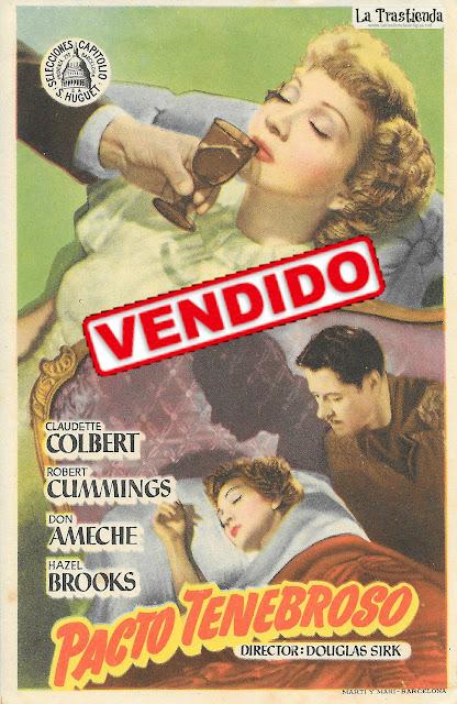 Pacto Tenebroso - Programa de Cine - Claudette Colbert - Robert Cummings