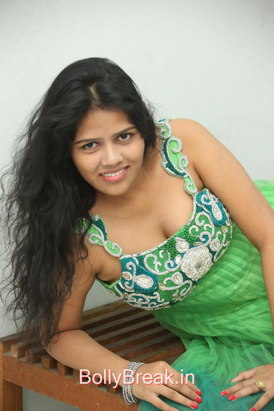 Lucky images, Lucky Hot Pics In Green Dress from Calling Bell Movie Audio Release Event