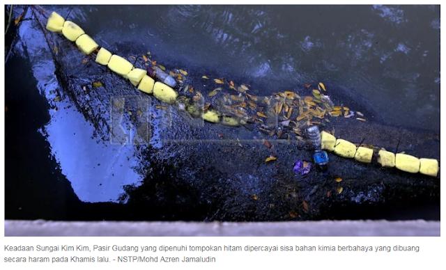 Kronologi Tragedi Gas Beracun Tercemar Di Sungai Kim Kim Pasir Gudang Johor