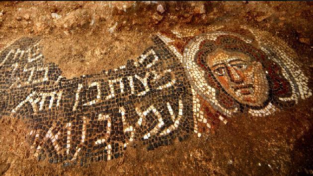 Mosaicos con historia bíblica de Sansón