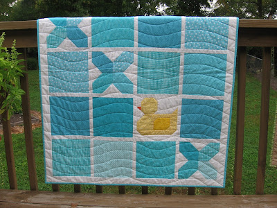 Tic Tac Quack by Canuck Quilter Designs - quilting detail