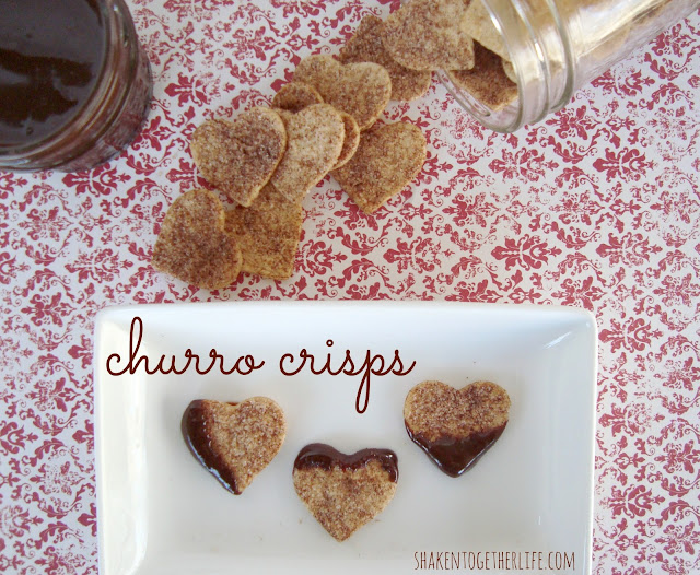 Churro Crisps With Hot Fudge Sauce