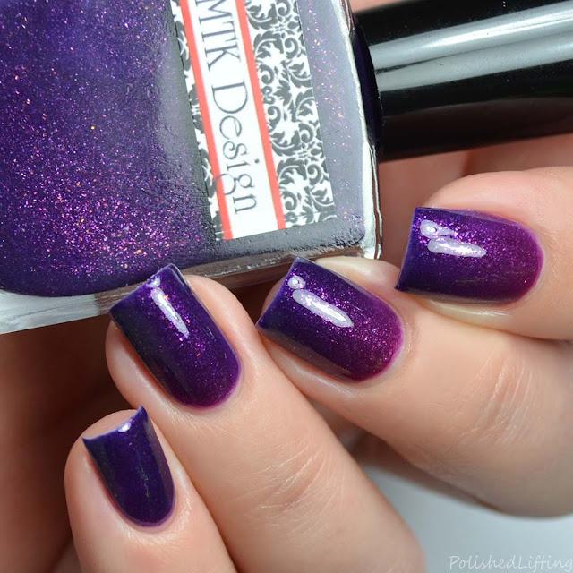 pink to purple thermal nail polish