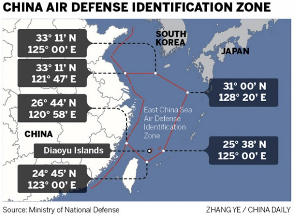 Chinese ADIZ - East China Sea