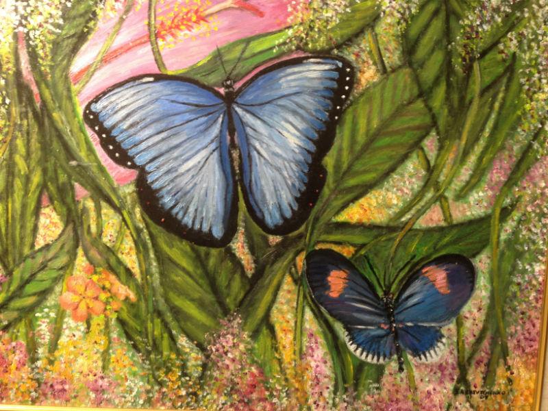 Papillons bleus par Eliland