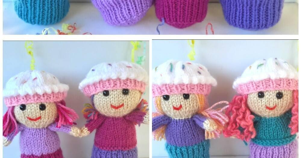 Kriskrafter Cutie Cupcake Dolls Free Knitting Pattern