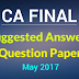 Download CA Final May 2017 TO 2015 Question papers /suggested answers