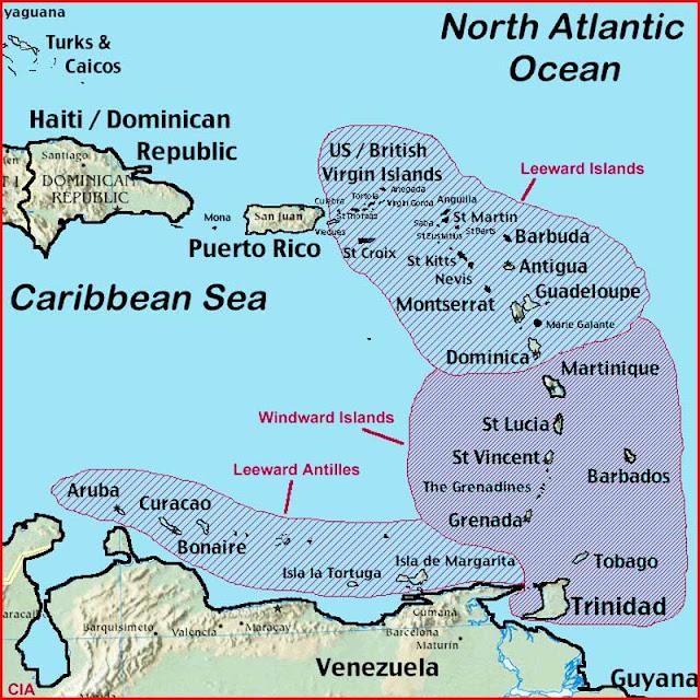 Gambar Peta Kepulauan Leeward
