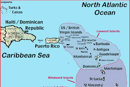 Leeward Islands Map