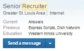 recruiter InMail message