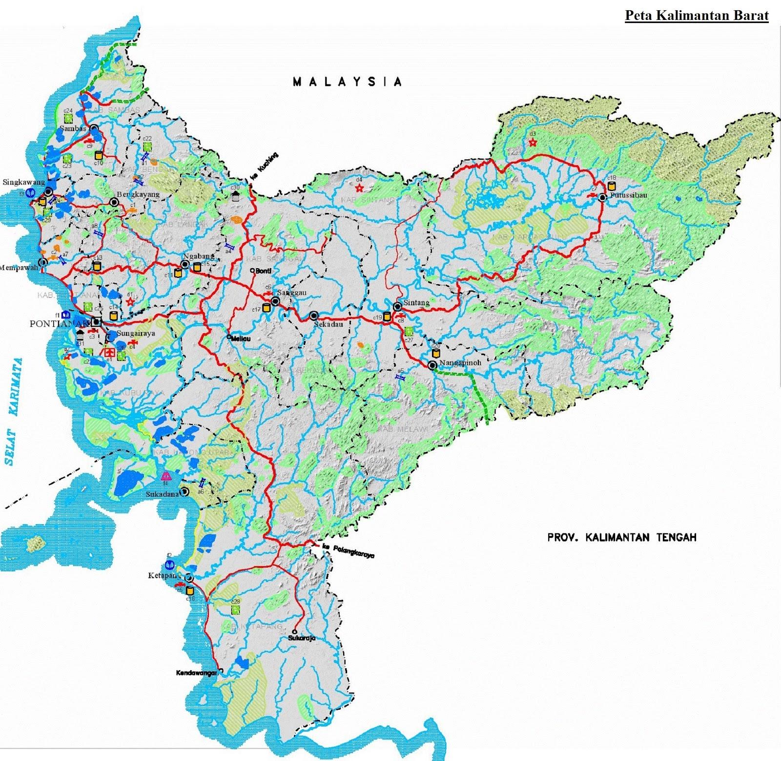 Peta Kalimantan Barat HD