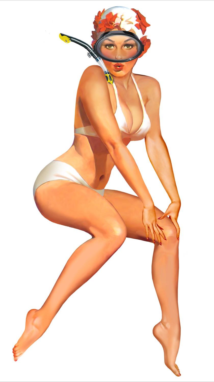 Female Muscle Pin-up by DavidCMatthews on DeviantArt