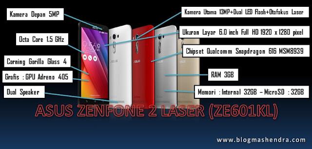 Spesifikasi Asus ZenFone 2 Laser (ZE601KL) - Blog Mas Hendra