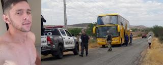 Jovem executado dentro de ônibus entre Coronel Ezequiel e Santa Cruz é suspeito de crimes na região