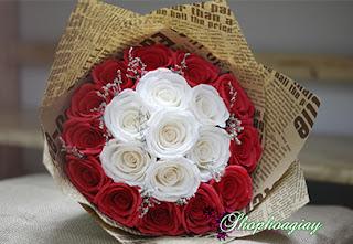 hoa giấy nhún làm quà tặng valentine