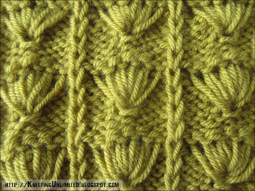 Knitted Leaf Pattern : Palm Leaf Pattern - Knitting Unlimited