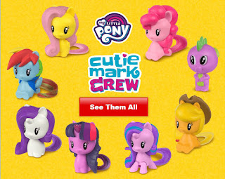 My Little Pony Cutie Mark Crew Happy Meal Toys