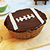 American Football Nutella No Bake Cheesecake
