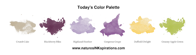 Today's Color Palette | Nature's INKspirations by Angie McKenzie | The Joy of Sets Easter/Spring Blog Hop, March 2020
