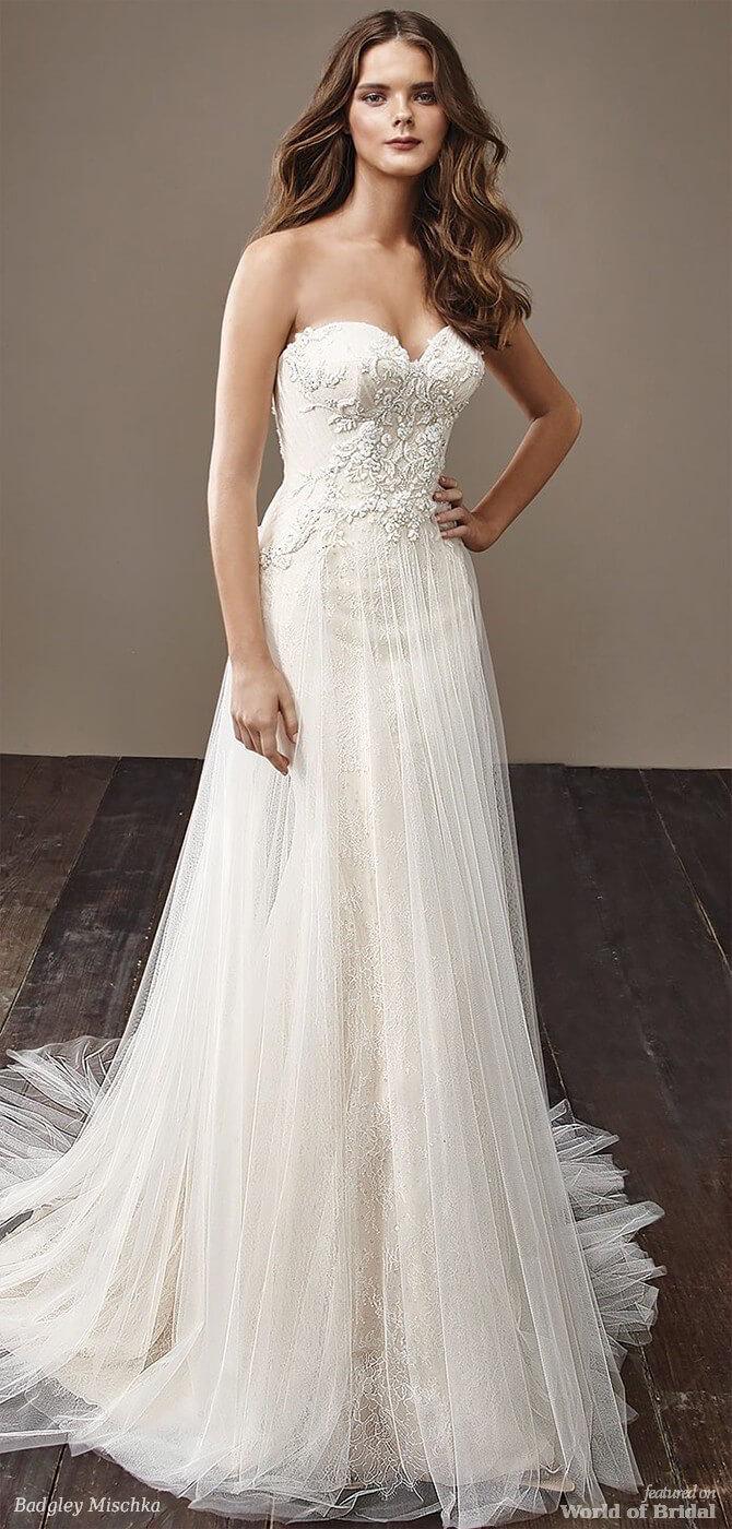 Badgley Mischka 2018 flowy A-line bridal gown