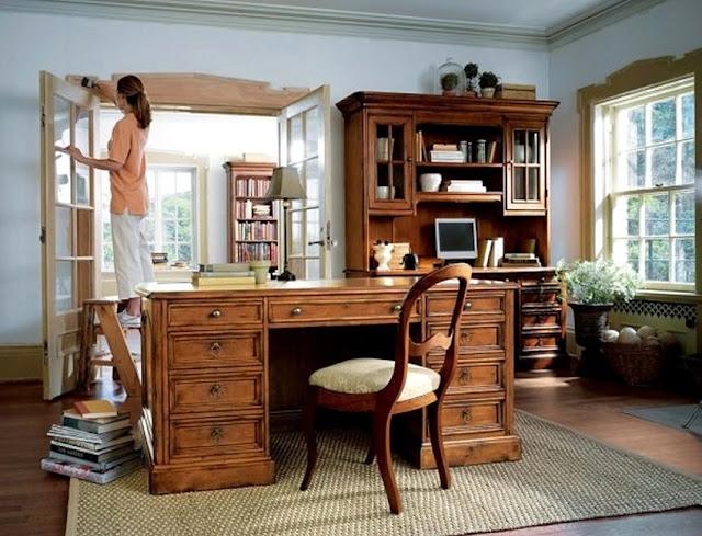 best buy solid oak home office furniture sets UK for sale online