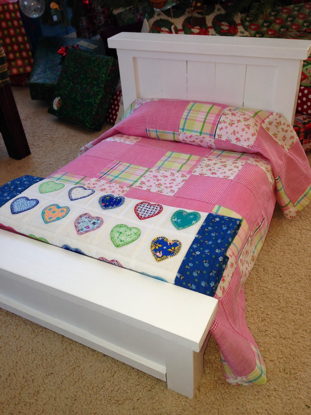 Do It Yourself Home Design: Celtic Heart Knitting And Quilting: American Girl Doll Bed