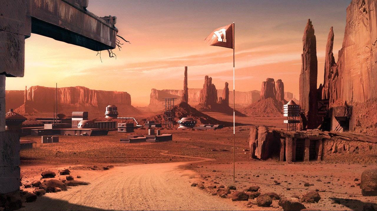 Mars base by Caroline Gasnier