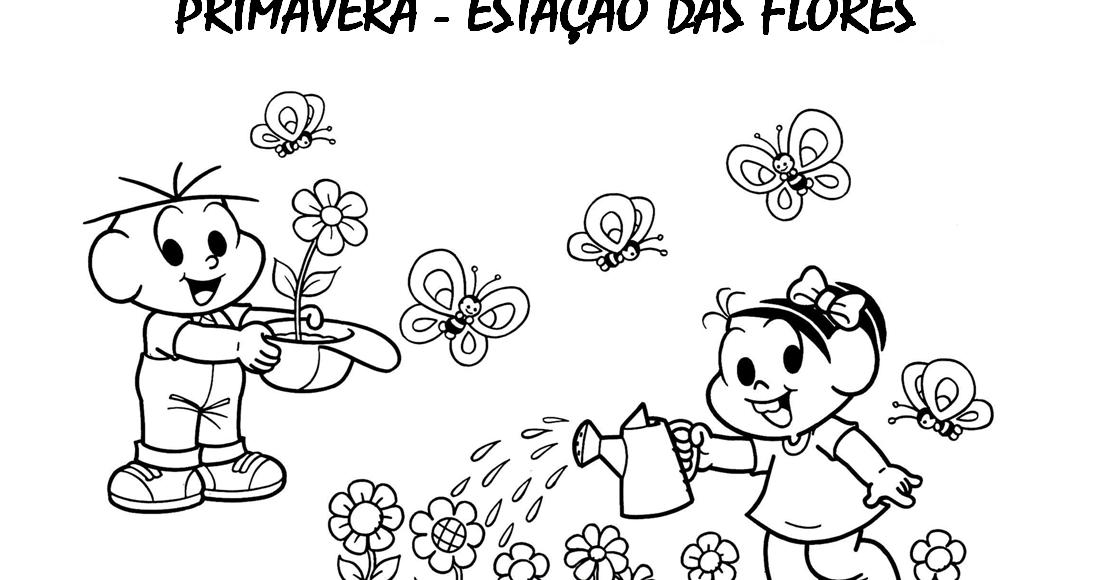 30 Atividades Primavera Turma Da Monica E Desenhos Colorir