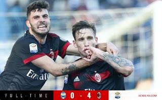 AC Milan Menang 4-0 di Kandang SPAL - Highlights