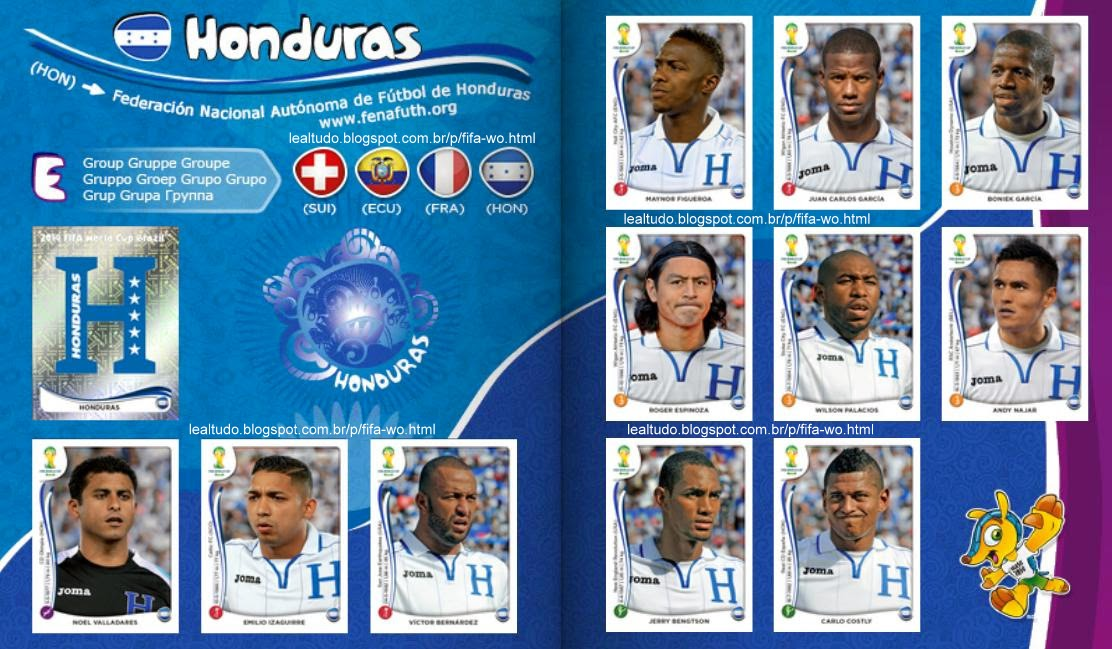 Album HONDURAS Fifa World Cup BRAZIL 2014 LIVE COPA DO MUNDO Sticker Figurinha Download Lealtudo