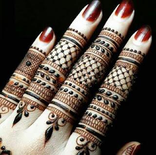 Mehndi design only for fingers