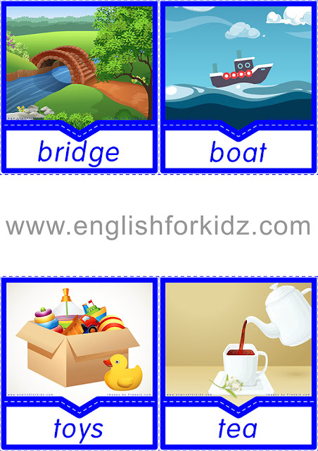 English flashcards with pictures